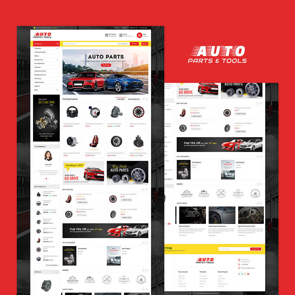 theme - Coches y Motos - Auto Parts Mega Store - 2