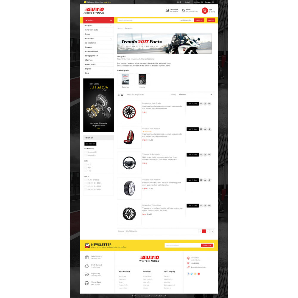 theme - Coches y Motos - Auto Parts Mega Store - 4