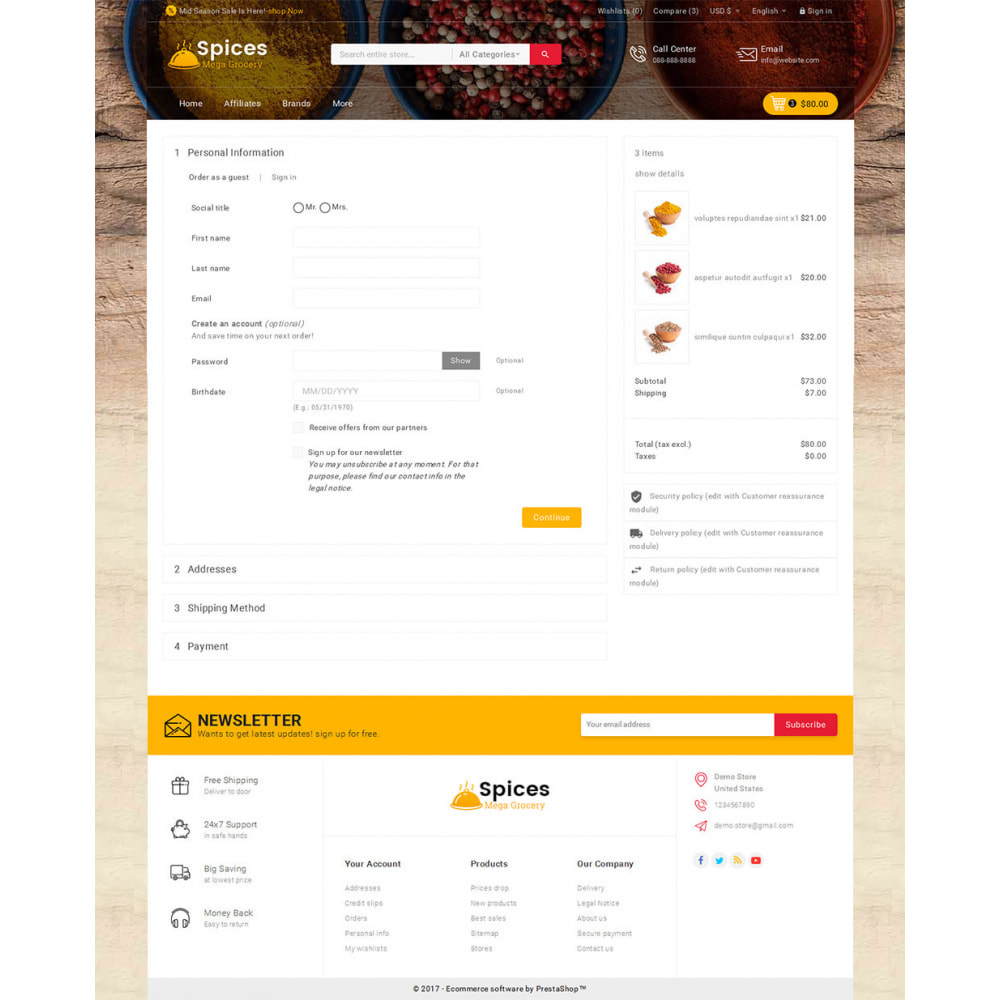 theme - Lebensmittel & Restaurants - Spices Mega Store - 7