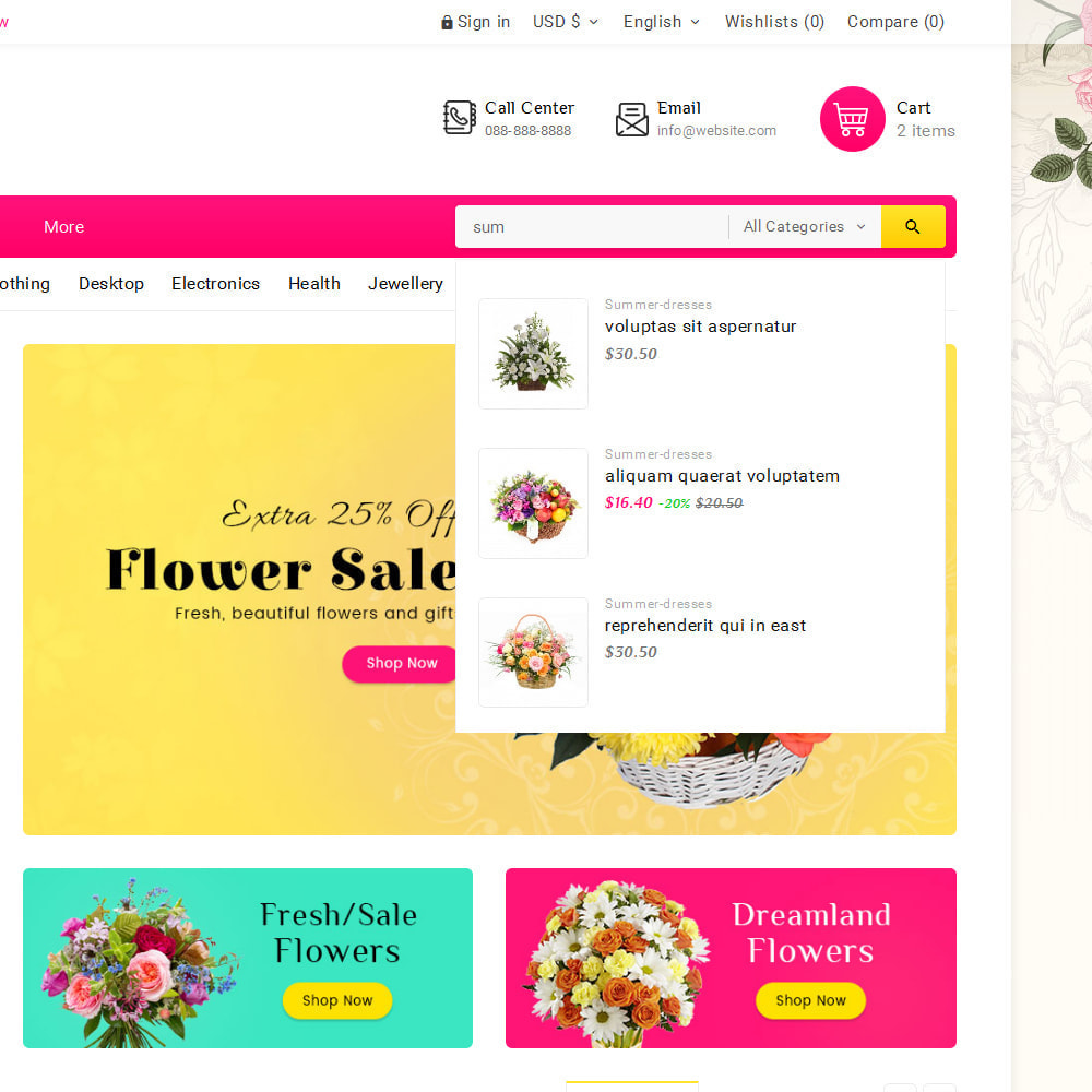 theme - Gifts, Flowers & Celebrations - Blooming Flower Mega Store - 10