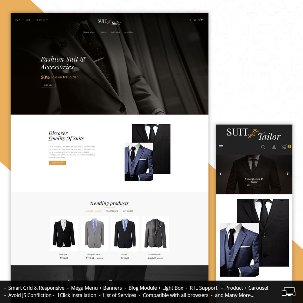 theme - Мода и обувь - Suit/Tailor Store - 1