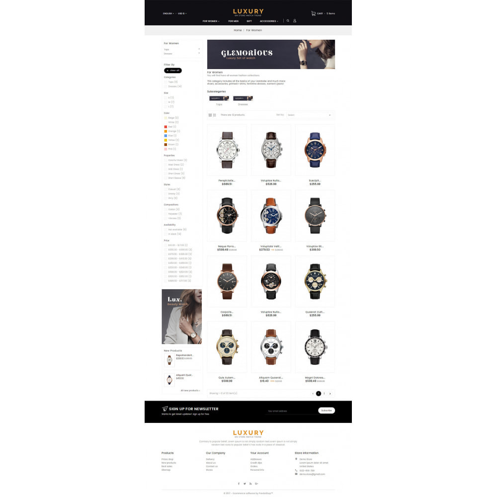 theme - Jewelry & Accessories - Luxury Watch Store - 3