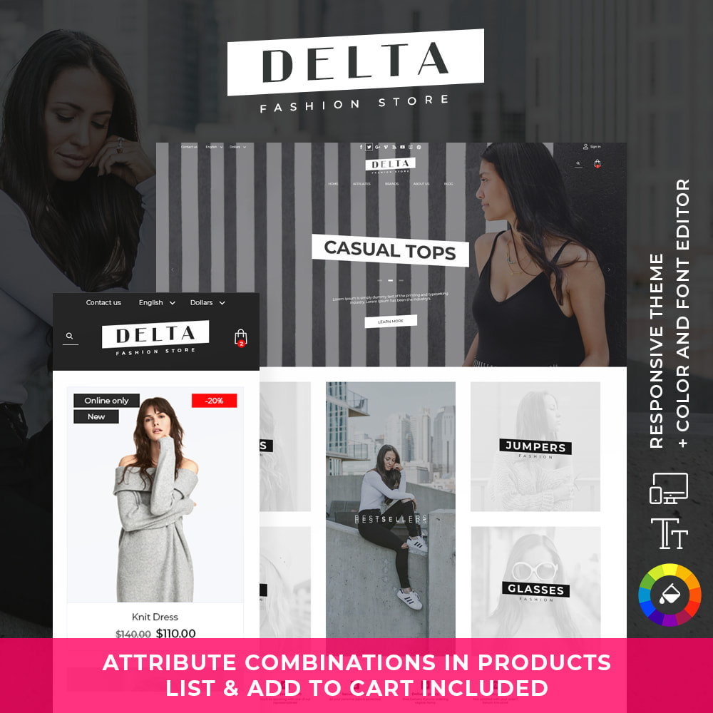 theme - Mode & Chaussures - Delta Fashion Store - 1
