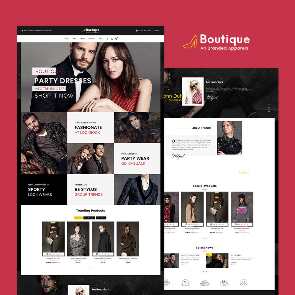 theme - Fashion & Shoes - Boutique Fashion Apparels - 2