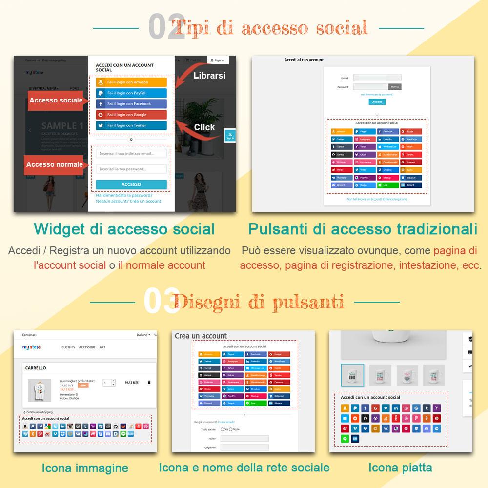 module - Login/Connessione - SOCIAL LOGIN - 32+ rete sociale - 2