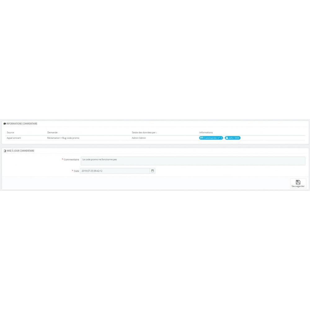 module - Connexion à un logiciel tiers (CRM, ERP...) - CRM client - 2