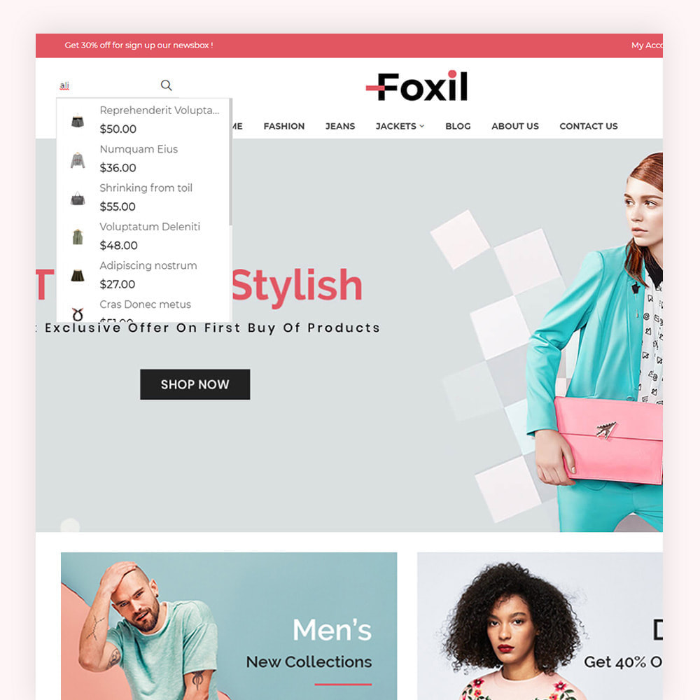 theme - Fashion & Shoes - Foxil Fashion Store - 3