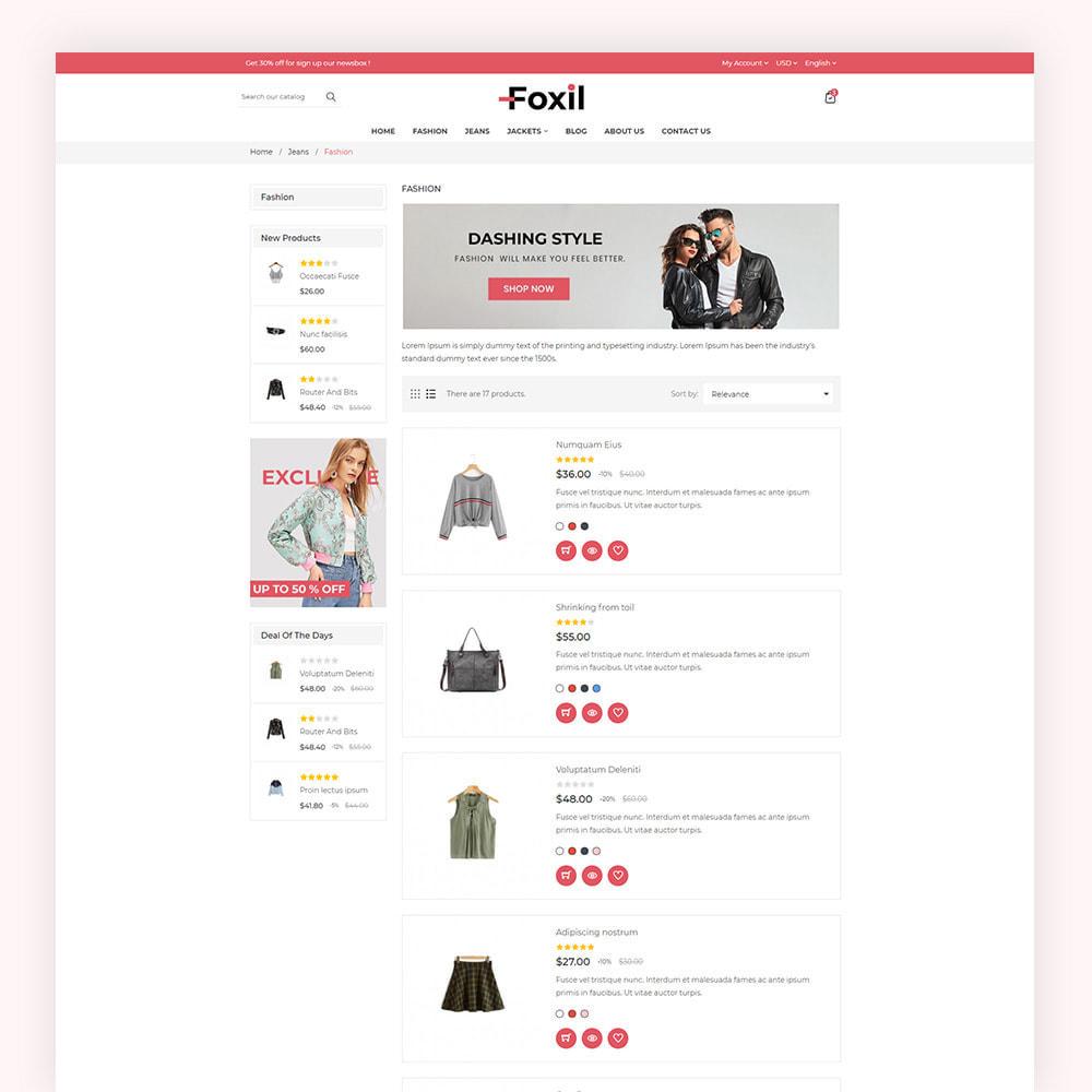 theme - Fashion & Shoes - Foxil Fashion Store - 6