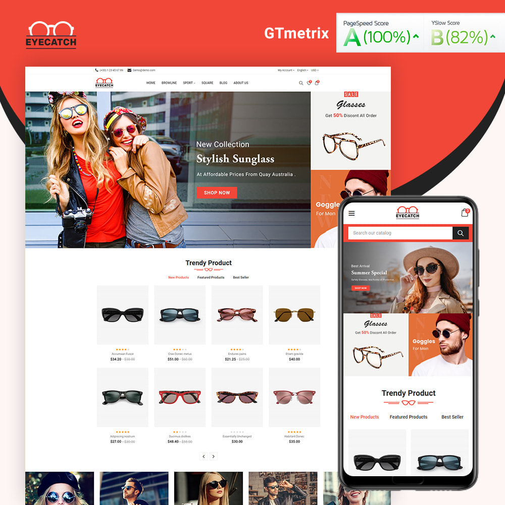 theme - Fashion & Shoes - Eyecatch Goggles Store - 1