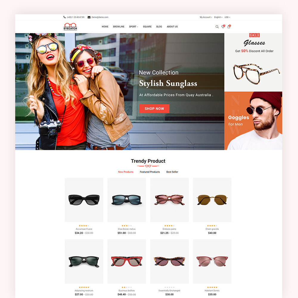 theme - Fashion & Shoes - Eyecatch Goggles Store - 2