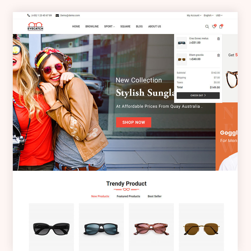 theme - Fashion & Shoes - Eyecatch Goggles Store - 4
