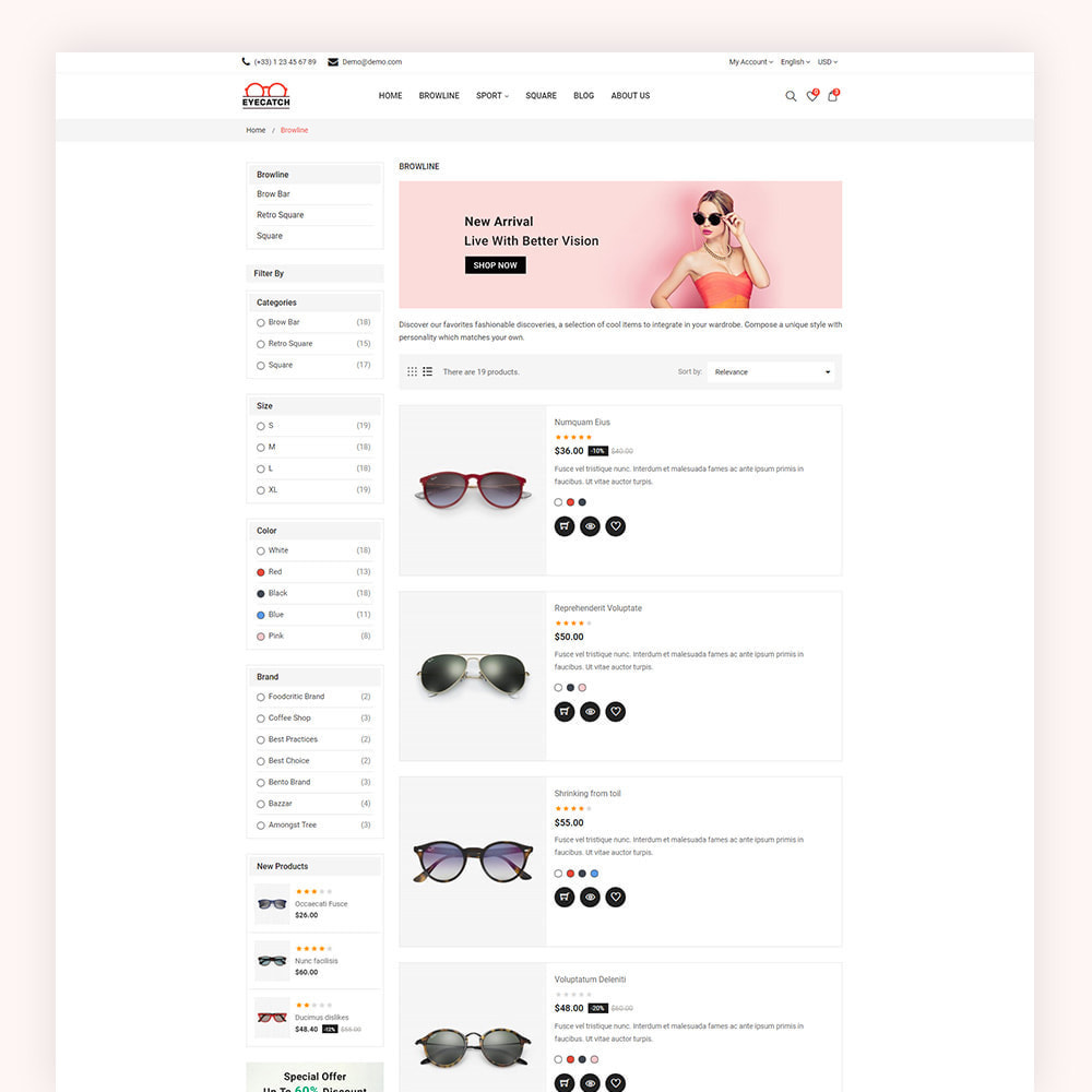theme - Fashion & Shoes - Eyecatch Goggles Store - 5
