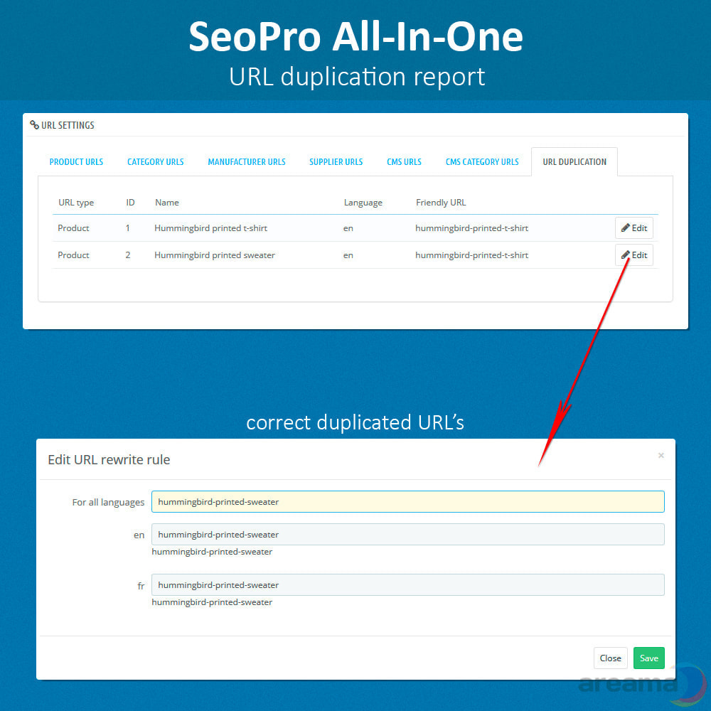 module - SEO (Indicizzazione naturale) - SeoPro All-In-One. URL cleaner, redirects, sitemaps... - 6