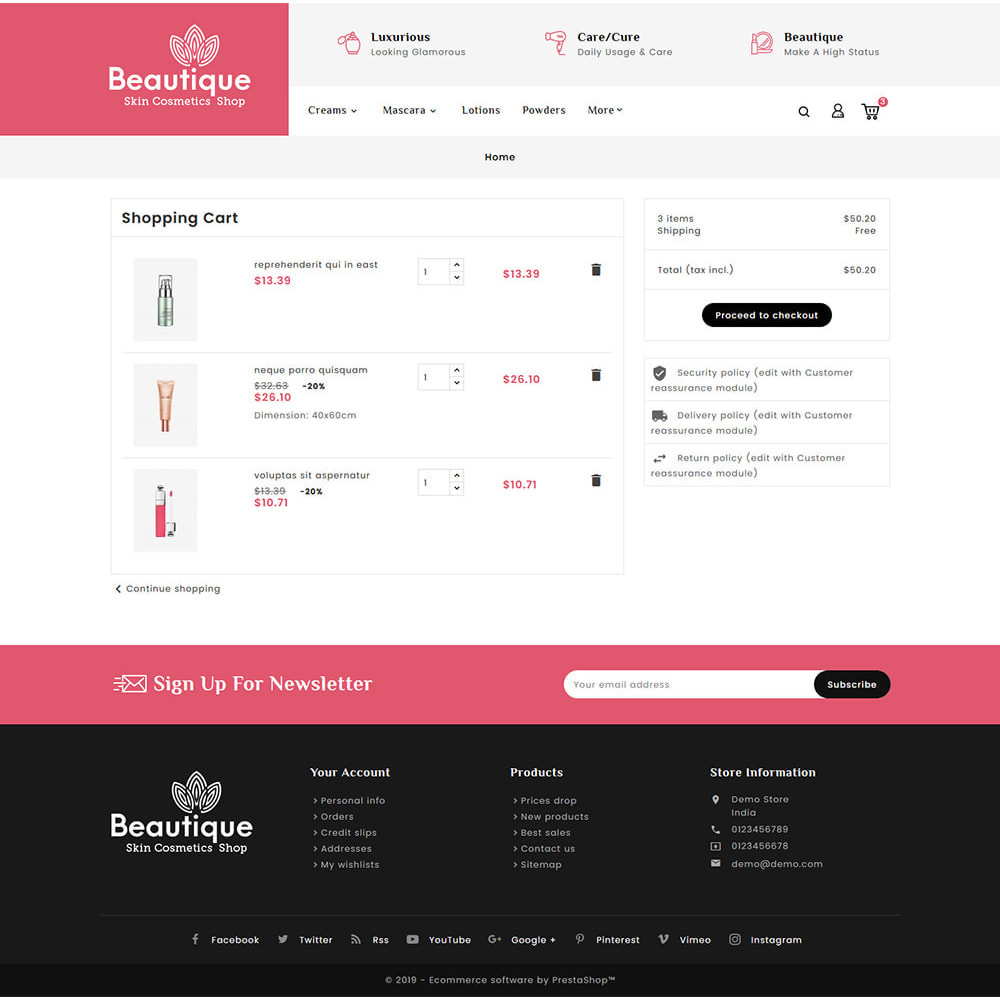 theme - Saúde & Beleza - Beautique Skin Cosmetics - 6