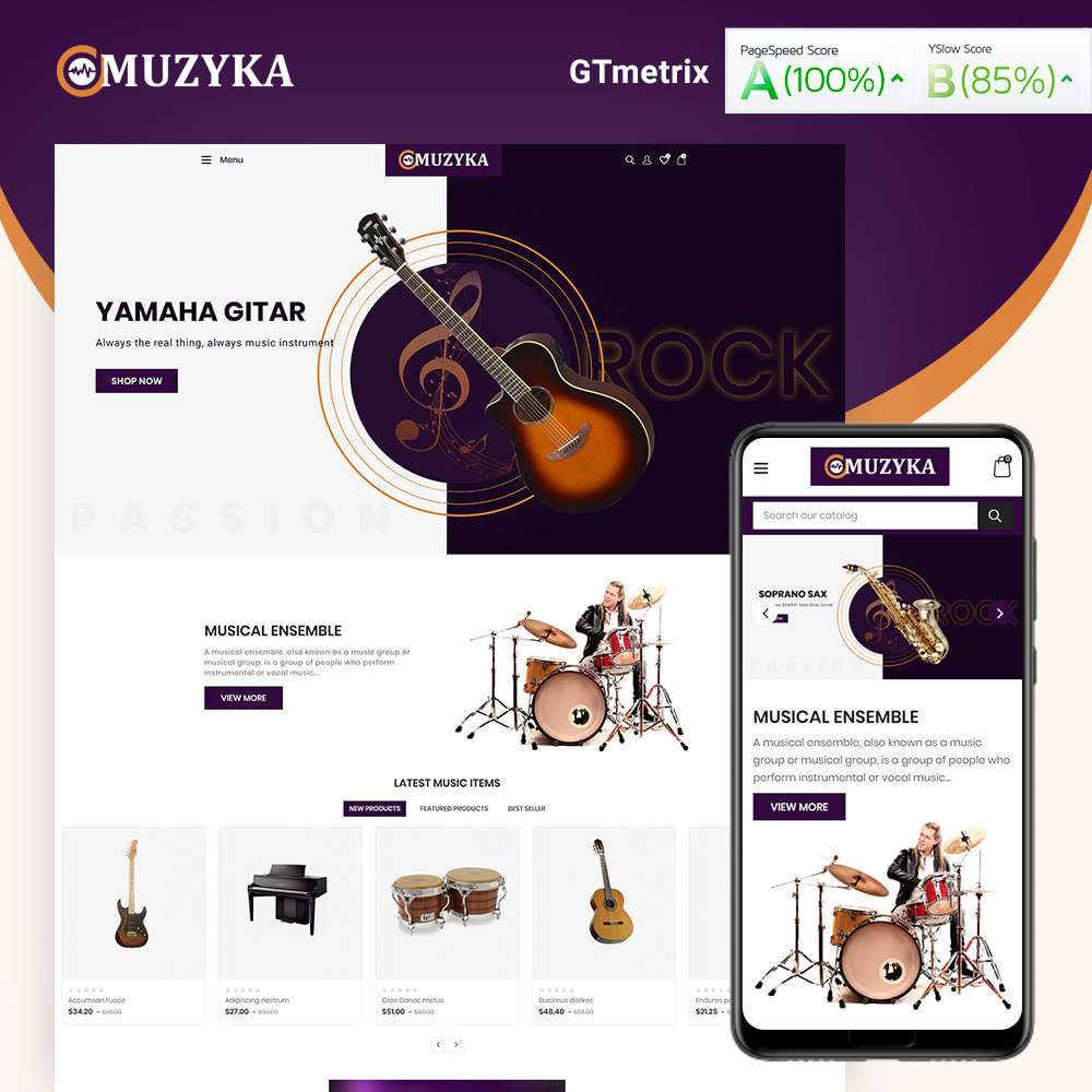 theme - Art & Culture - Muzyka Mugic Instruments Store - 1