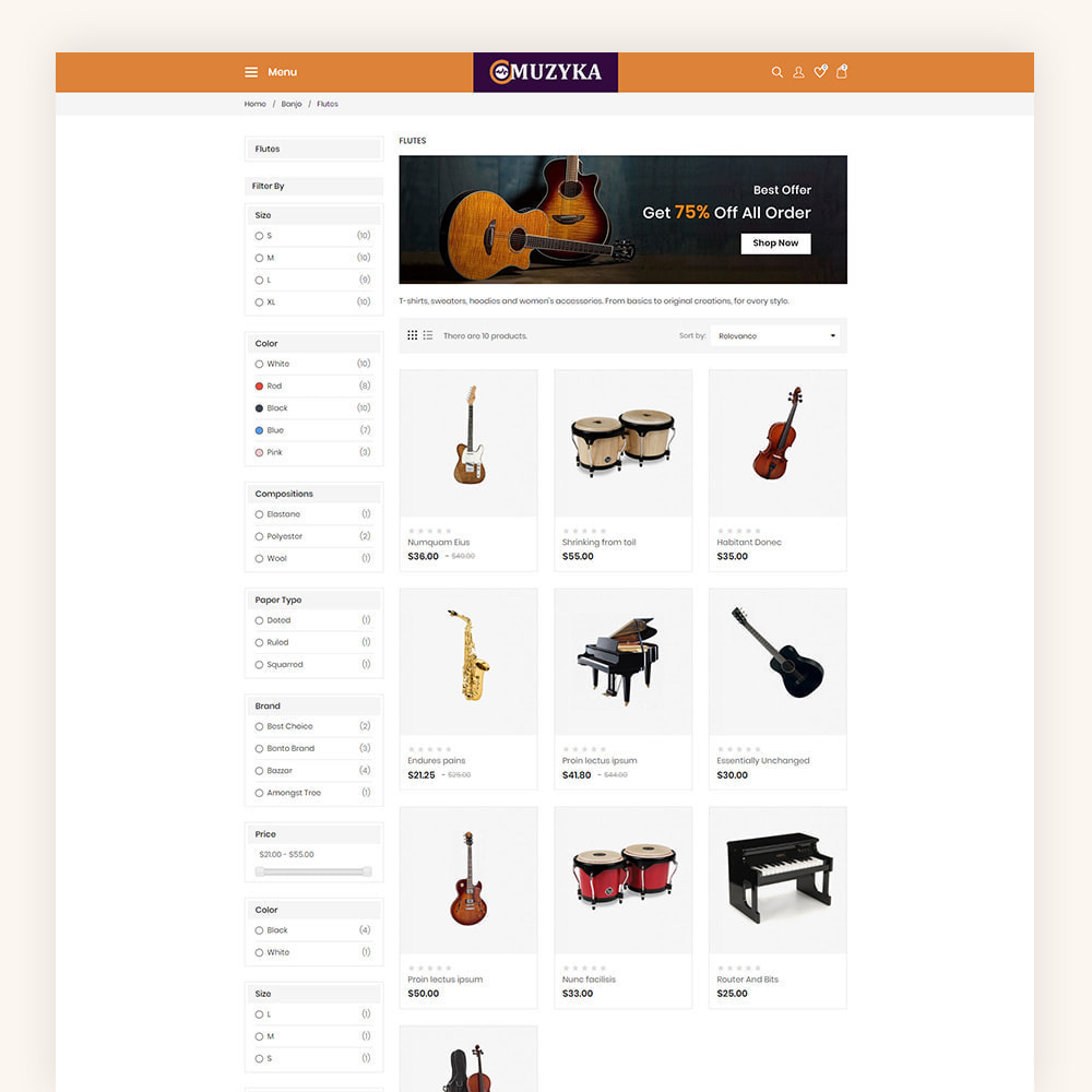 theme - Art & Culture - Muzyka Mugic Instruments Store - 5