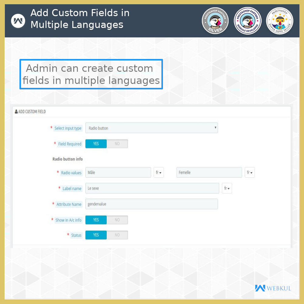 module - Inscripción y Proceso del pedido - Custom Registration Field - 6