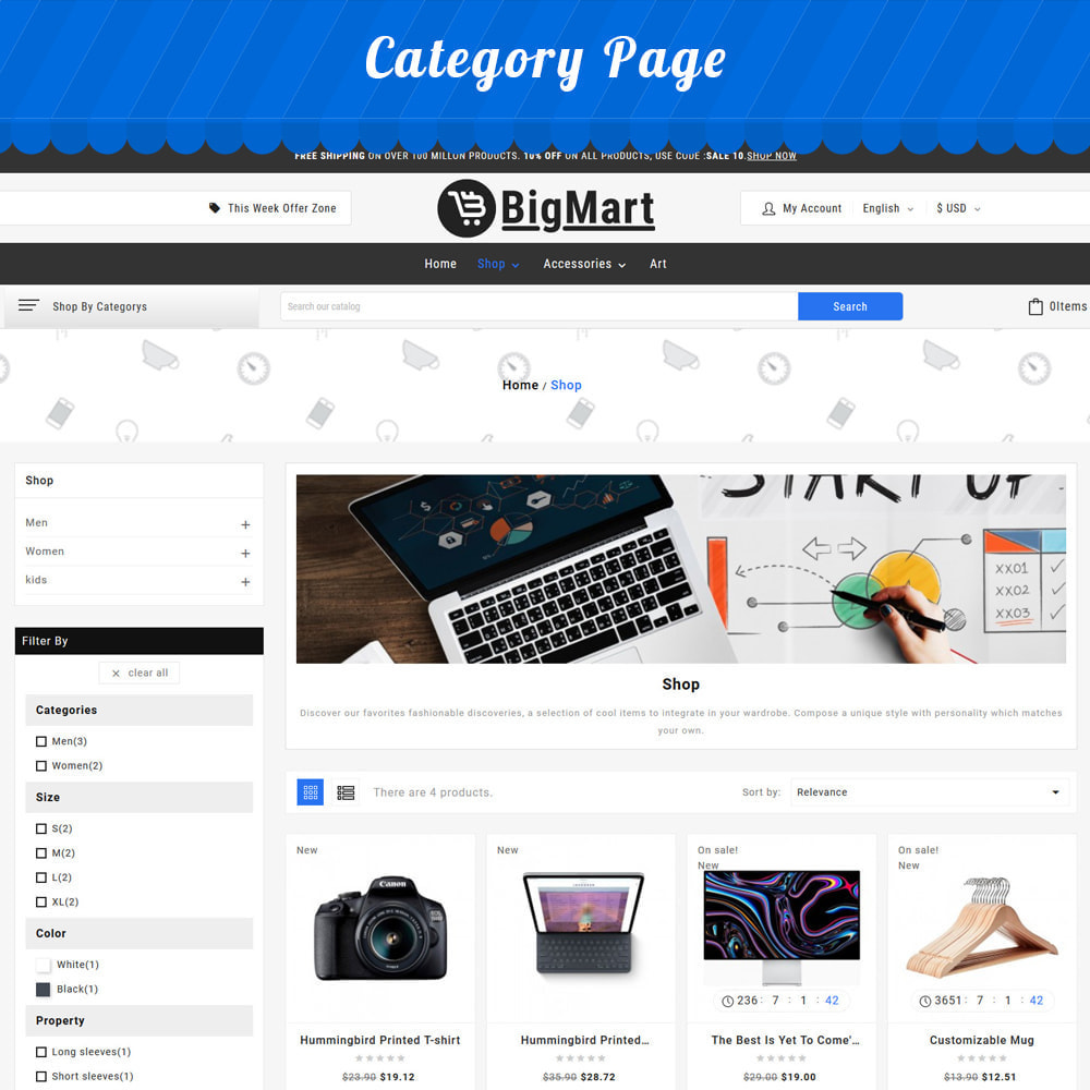 theme - Electronics & Computers - Fashion Store - Big Mart Template - 2