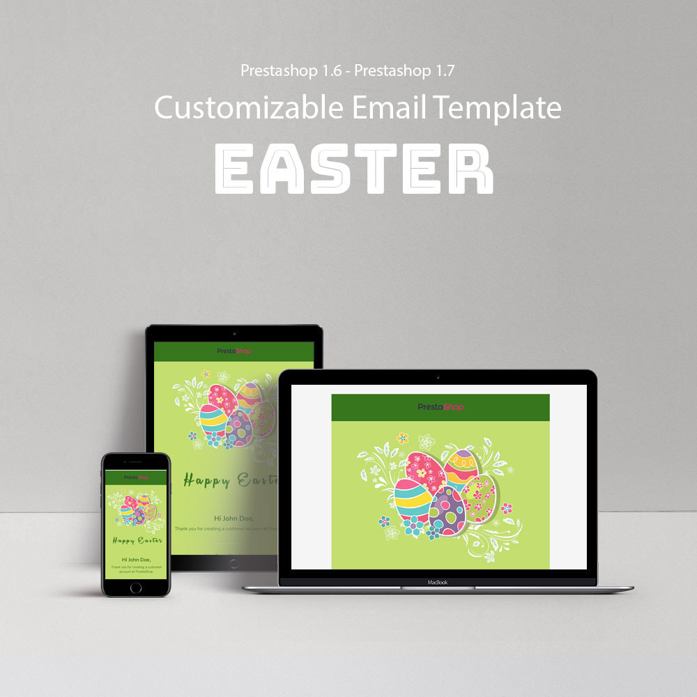 email - Email templates PrestaShop - Easter - Email templates Customize - 1