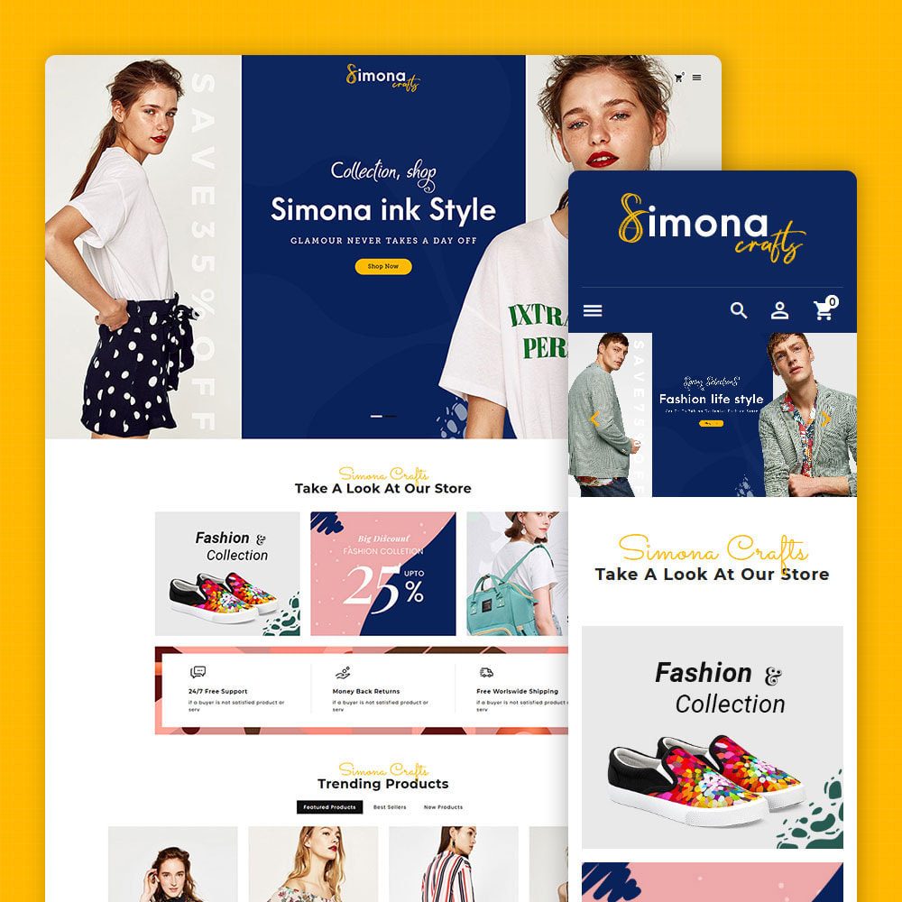 theme - Fashion & Shoes - Simona Crafts - Fashion Apparels - 1