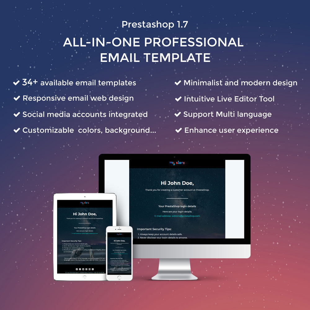 email - Template di e-mail PrestaShop - Wiz - Professional responsive Email Template - 1