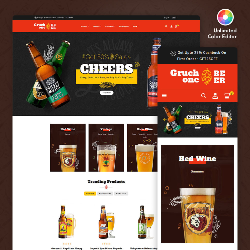 theme - Drink & Wine - Gruchone Beer & Wine Store - 1