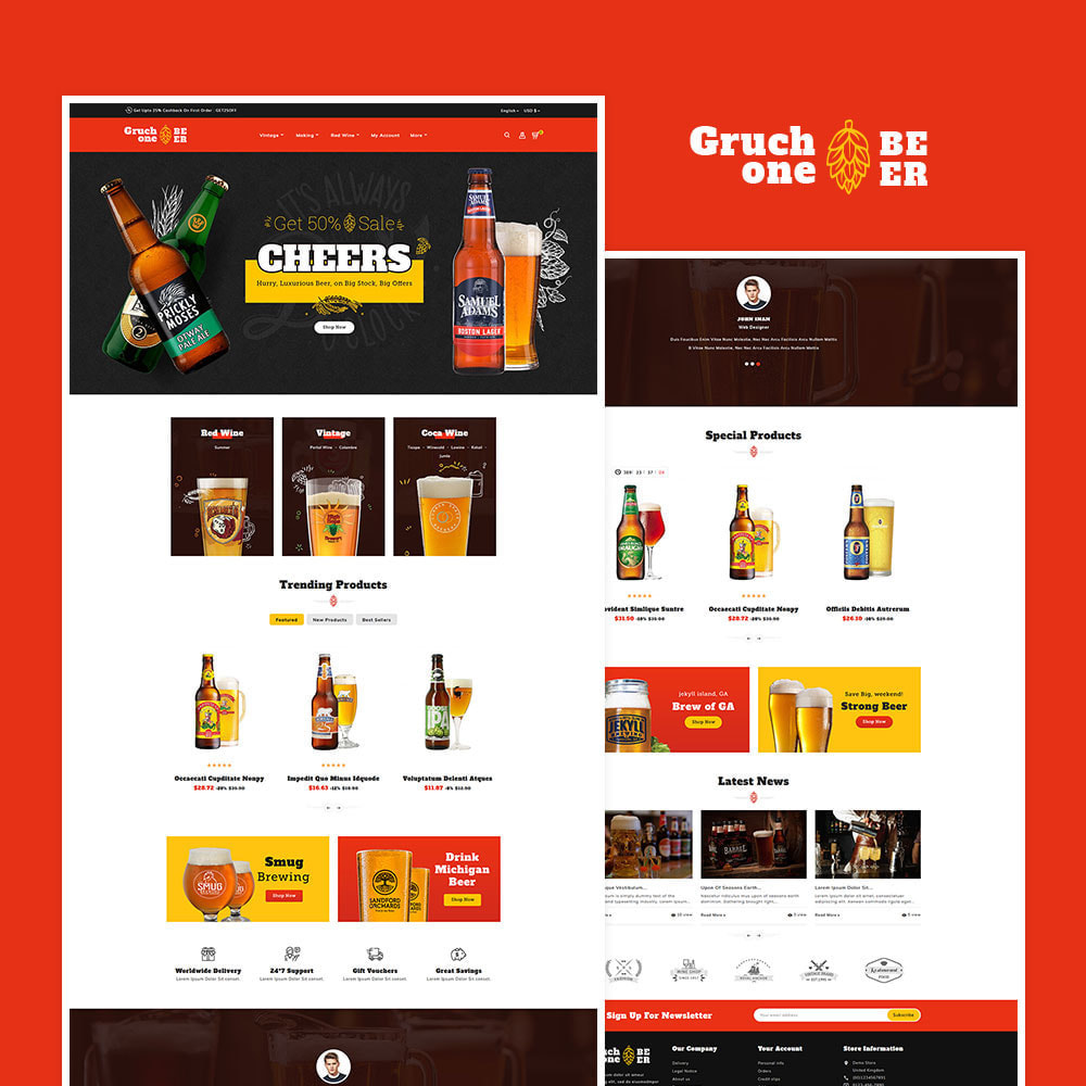 theme - Drink & Wine - Gruchone Beer & Wine Store - 2
