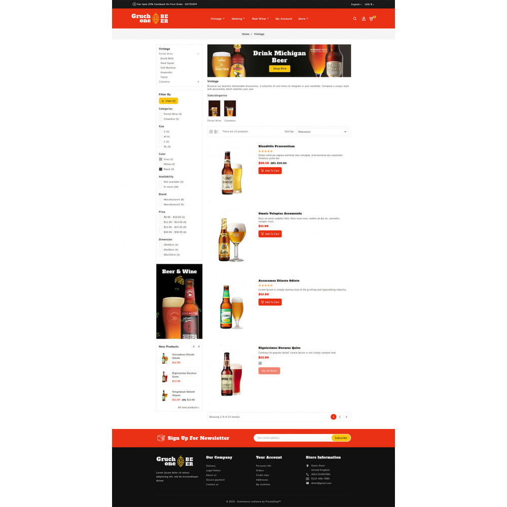 theme - Drink & Wine - Gruchone Beer & Wine Store - 4