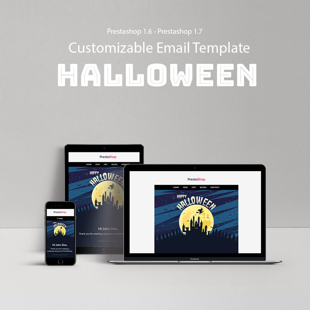 email - Templates d'e-mails PrestaShop - Halloween - Template emails and for emails of module - 1