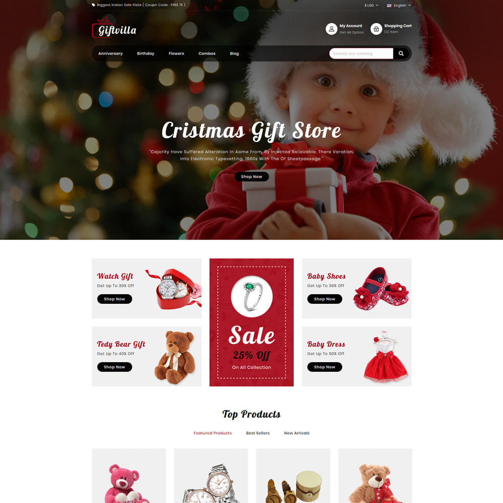 theme - Gifts, Flowers & Celebrations - Giftvilla Gift Shop - 2