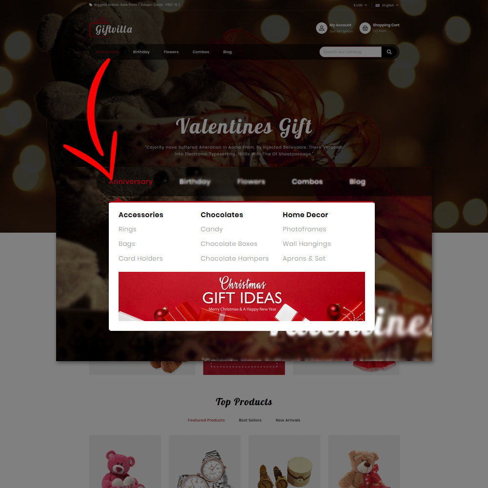 theme - Gifts, Flowers & Celebrations - Giftvilla Gift Shop - 7