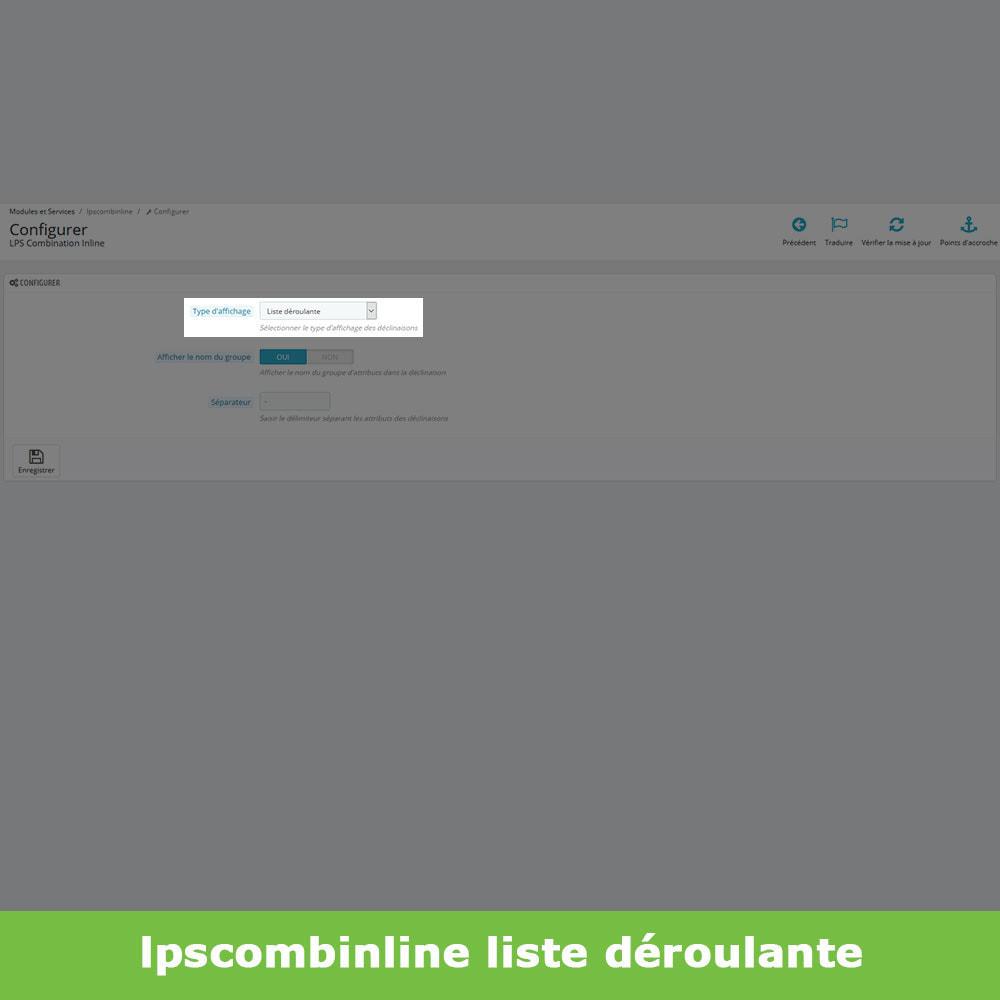 module - Déclinaisons & Personnalisation de produits - Groupes attributs déclinaisons produits (like Amazon) - 4