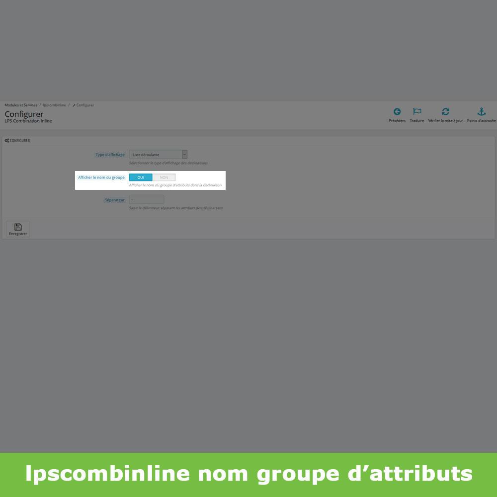 module - Déclinaisons & Personnalisation de produits - Groupes attributs déclinaisons produits (like Amazon) - 10