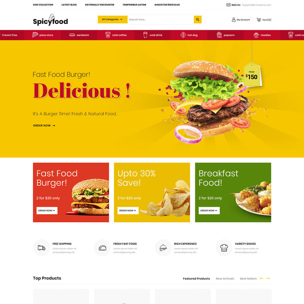 theme - Lebensmittel & Restaurants - Spicy Food - The Mega Food Shop - 5