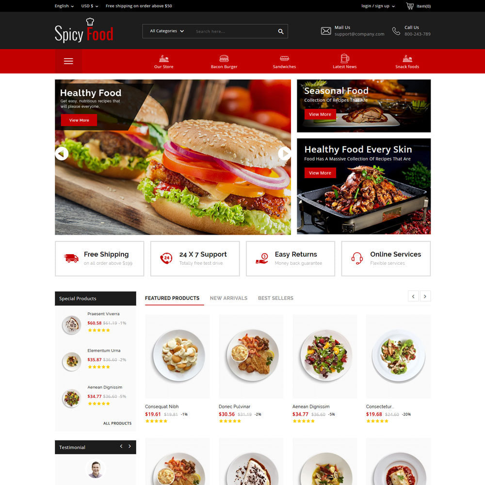 theme - Gastronomía y Restauración - Comida picante - The Mega Food Shop - 4