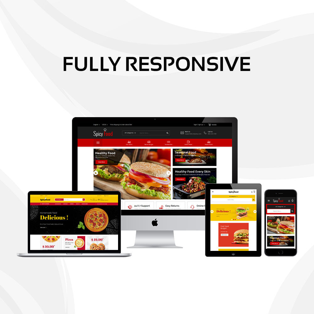 theme - Alimentation & Restauration - Spicy Food - Le magasin d'alimentation Mega - 3