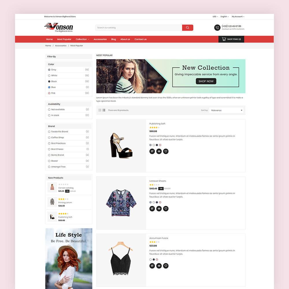 theme - Mode & Chaussures - Vonson Fashion Store - 6