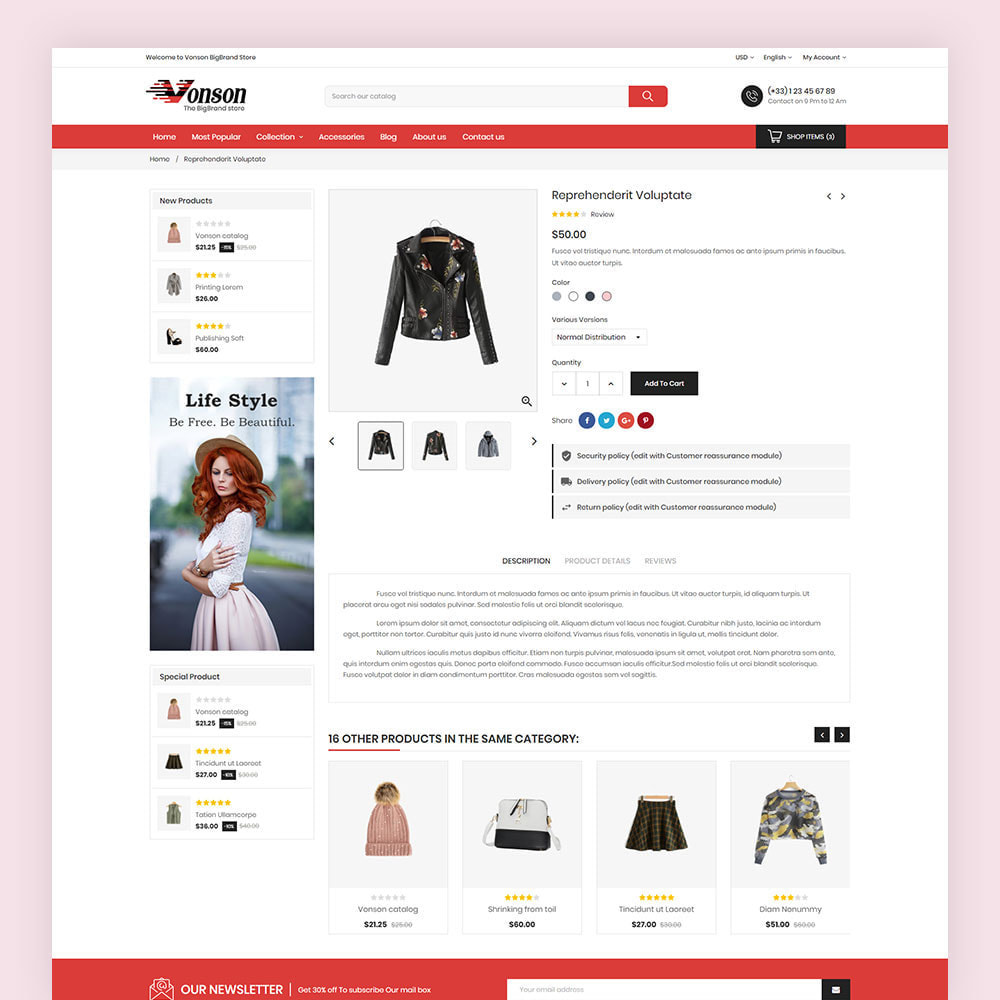 theme - Mode & Chaussures - Vonson Fashion Store - 7
