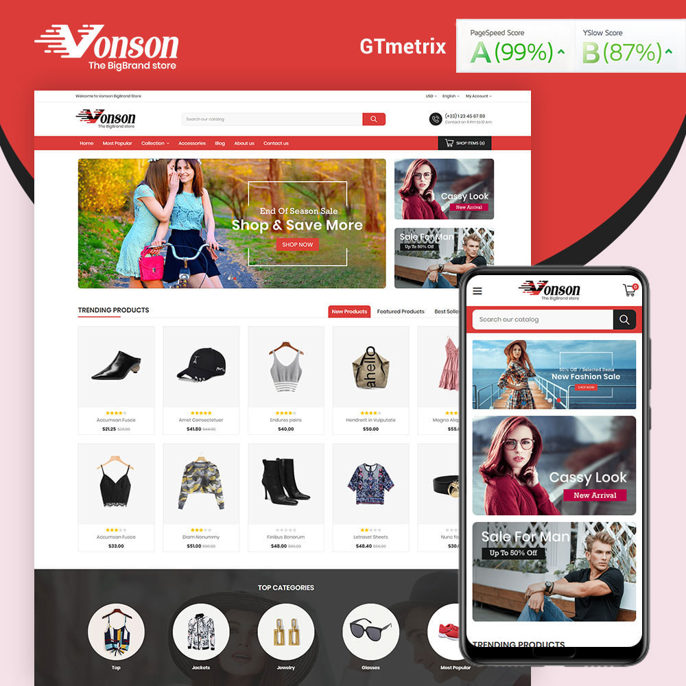 theme - Мода и обувь - Vonson Fashion Store - 1