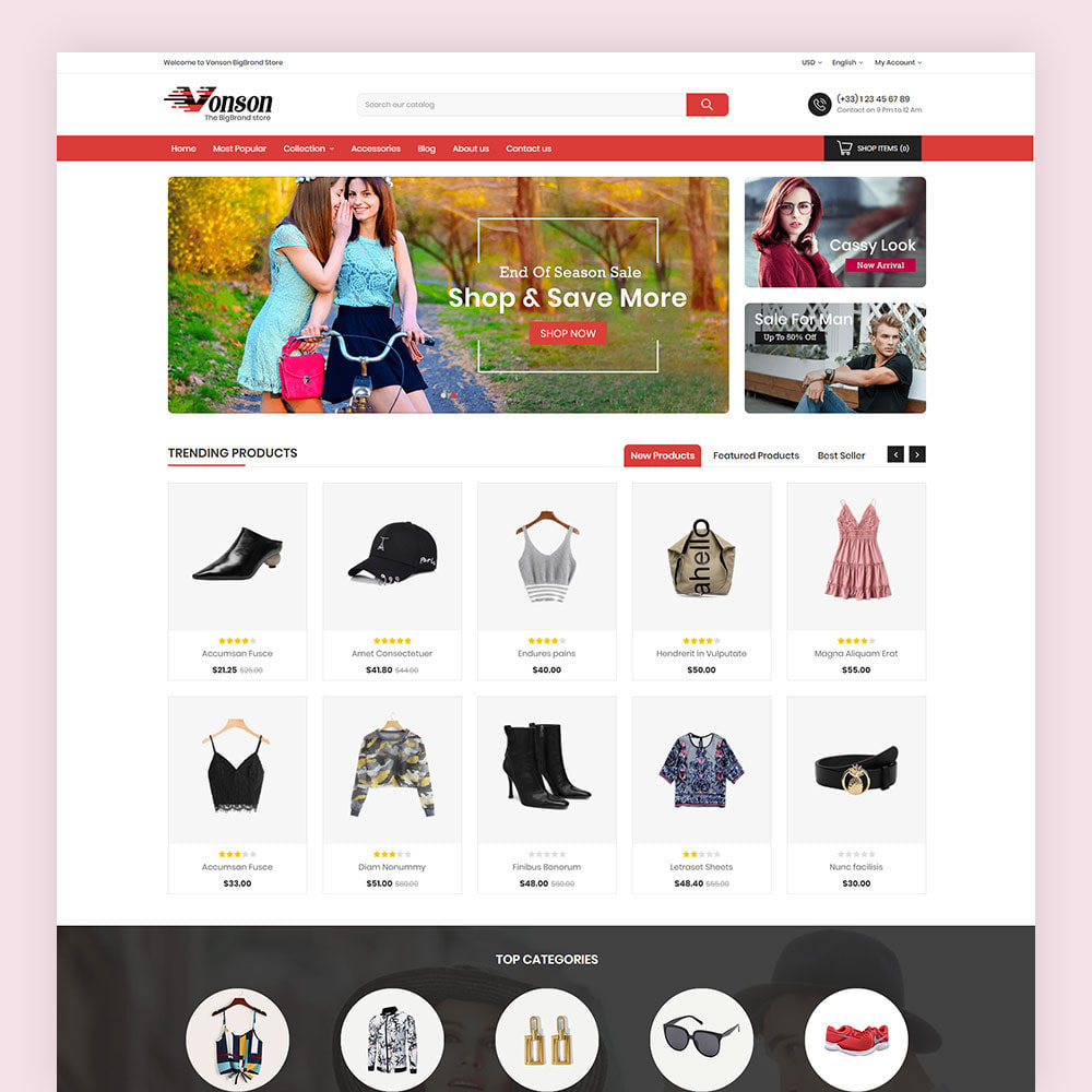 theme - Мода и обувь - Vonson Fashion Store - 2