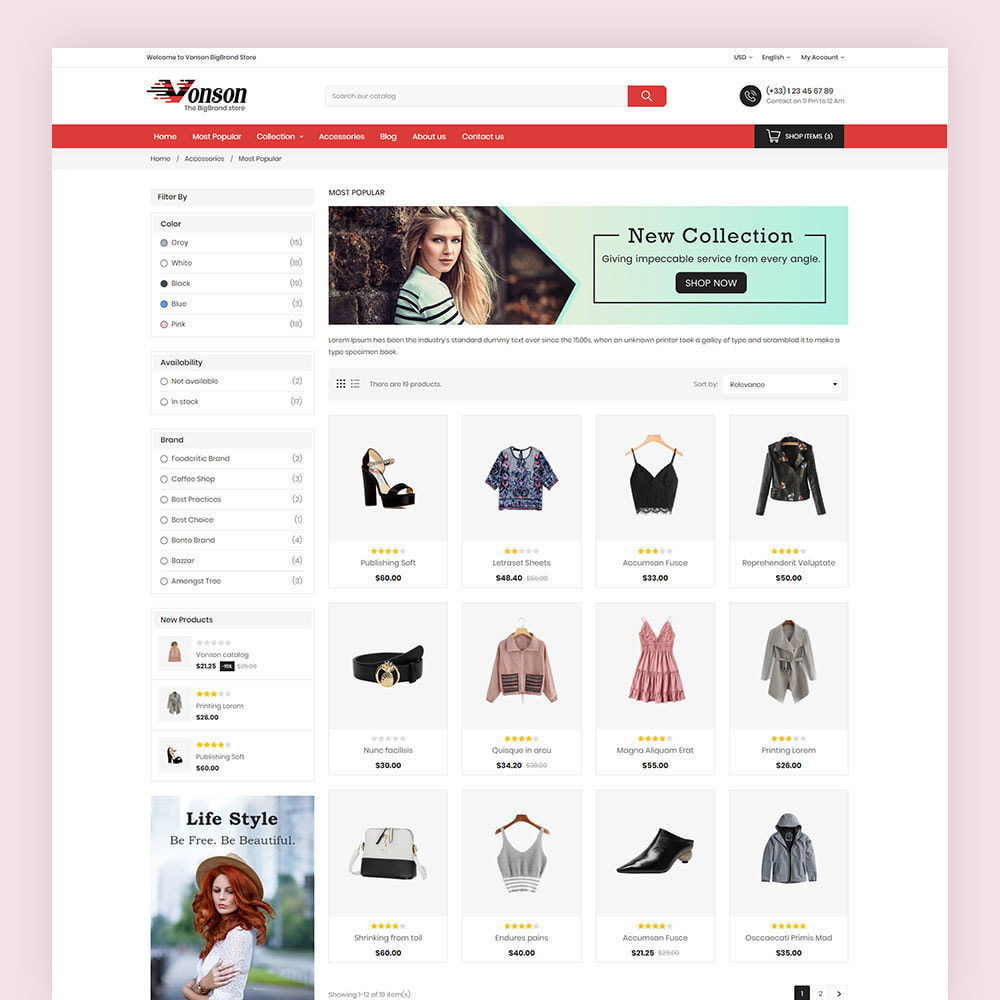 theme - Мода и обувь - Vonson Fashion Store - 5