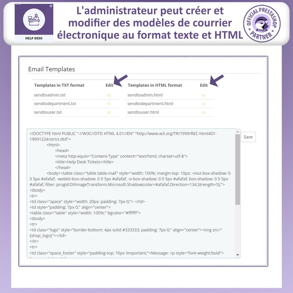 module - Service Client - Bureau d'aide - Système de Gestion du Service Clientèle - 17