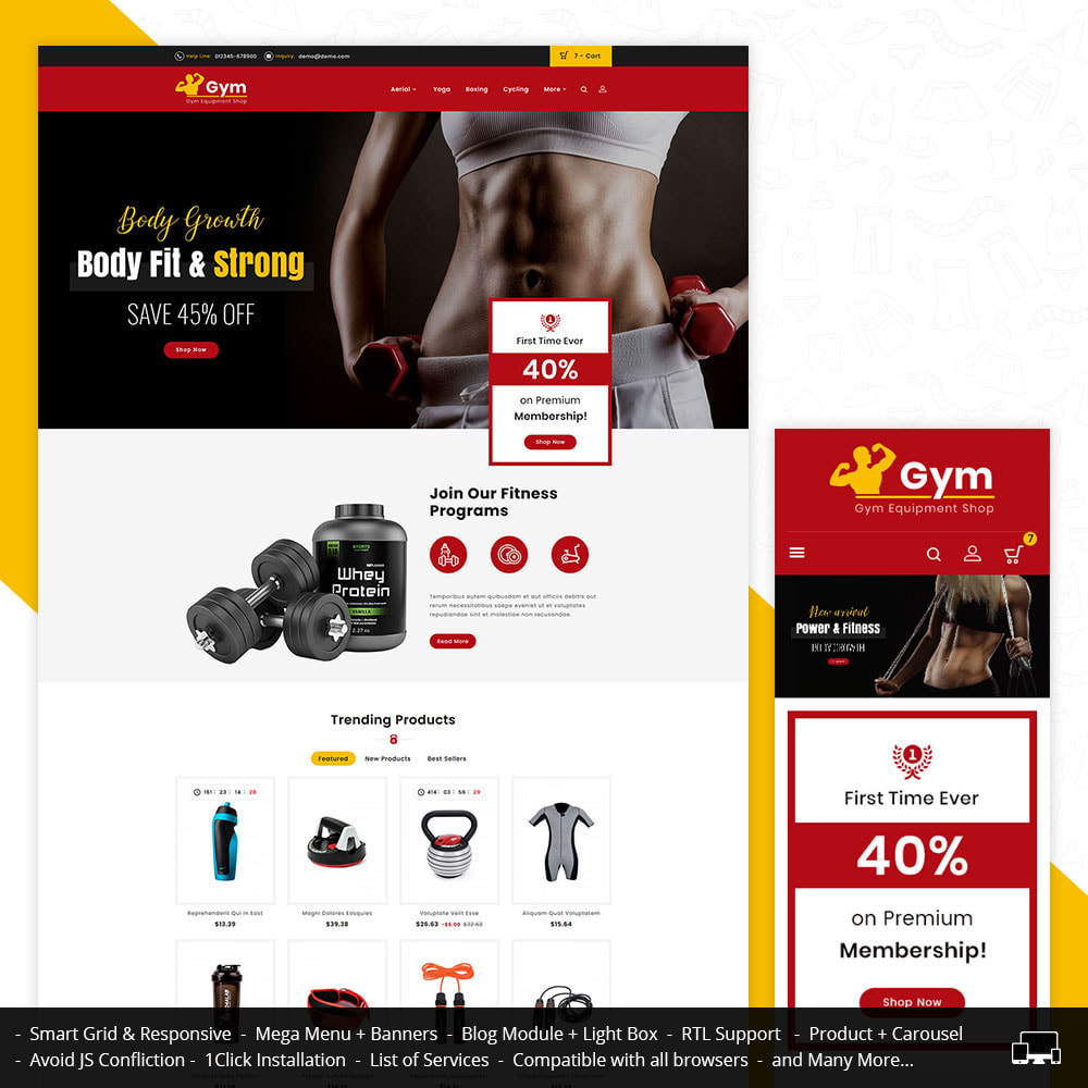 theme - Sports, Activities & Travel - Gym - Equipment Shop - 1