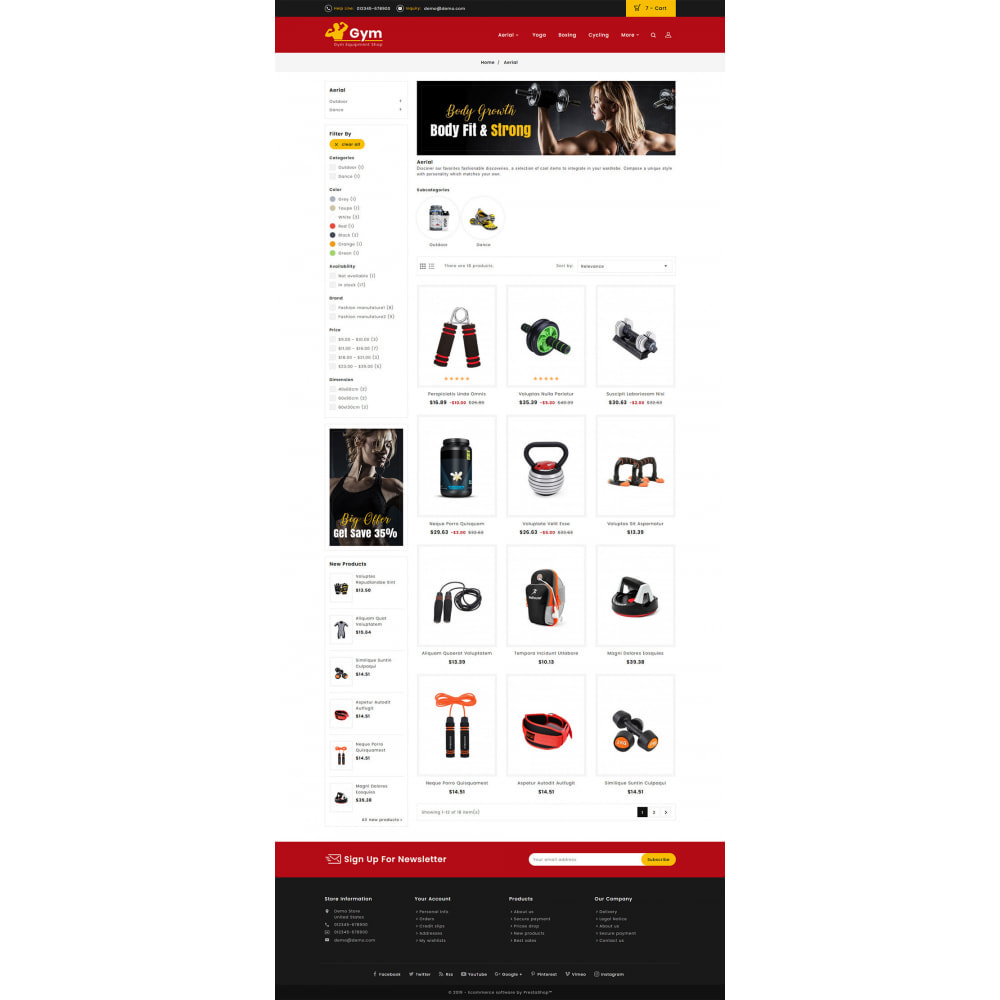 theme - Sports, Activities & Travel - Gym - Equipment Shop - 3