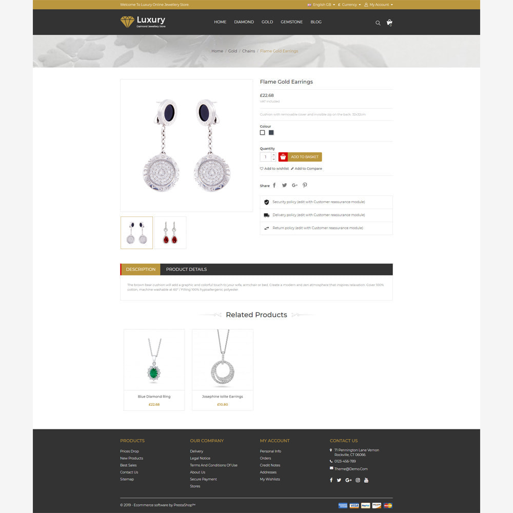 theme - Jewelry & Accessories - Jewellery -  Responsive Store - 4