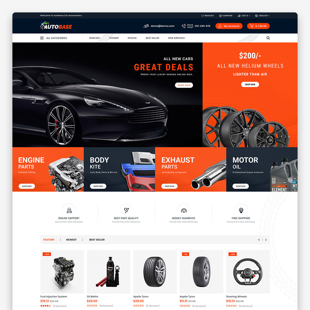theme - Carros & Motos - Autobase - The Best Supermarket Auto Store - 2