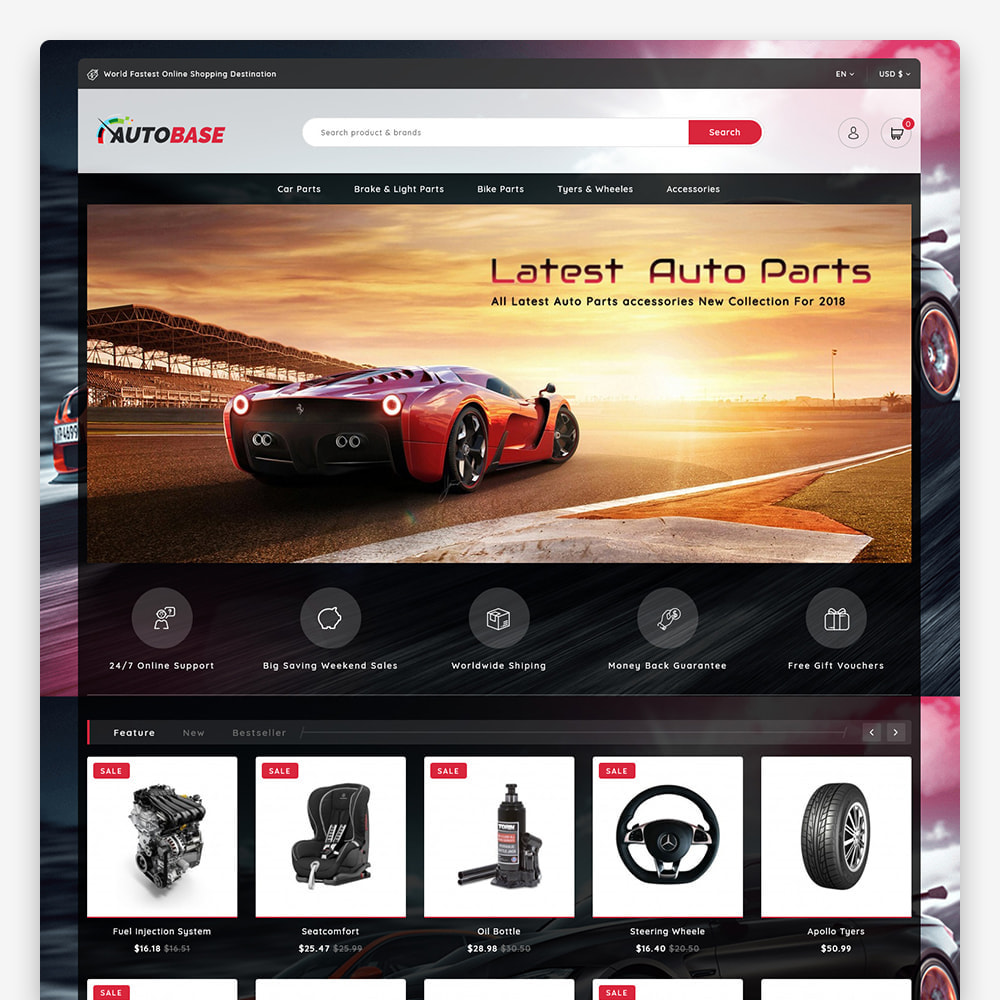 theme - Carros & Motos - Autobase - The Best Supermarket Auto Store - 3