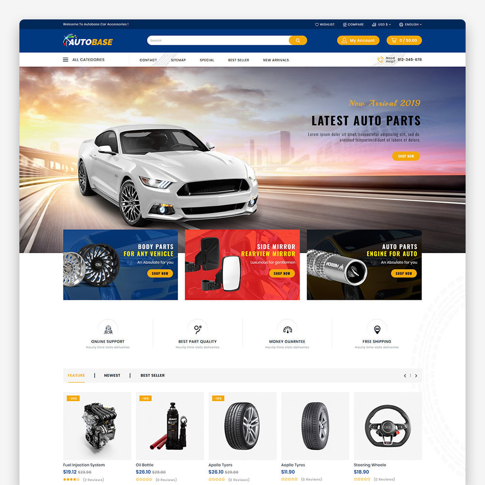 theme - Auto & Moto - Autobase - The Best Supermarket Auto Store - 4