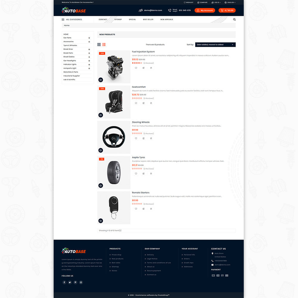 theme - Automotive & Cars - Autobase - Auto Parts & Tools - 8