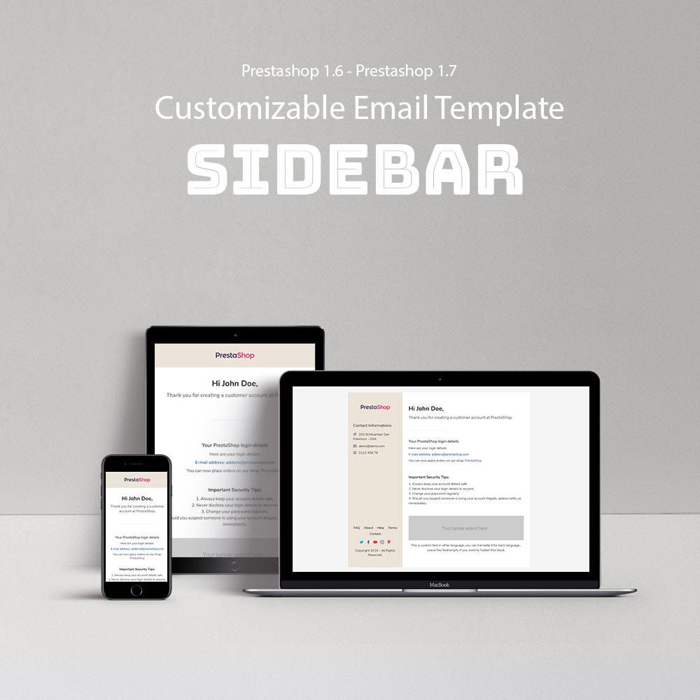email - Modelos de e-mails da PrestaShop - Sidebar - Template emails and for emails of module - 1